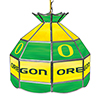 University of Oregon 16 Inch Handmade Stained Glass Lamp