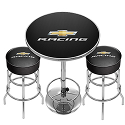 Chevrolet Racing Game Room Combo - 2 Bar Stools and Table