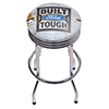 Ford Chrome Ribbed Bar Stool - Built Ford Tough