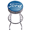 Ford Chrome Ribbed Bar Stool - Ford Genuine Parts