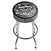 Ford Chrome Ribbed Bar Stool - Vintage 1903 Ford Motor Co.