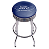 Ford Chrome Ribbed Bar Stool - The Universal Car