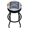 Ford Black Ribbed Bar Stool - Built Ford Tough