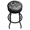 Ford Black Ribbed Bar Stool - Vintage 1903 Ford Motor Co.