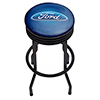 Ford Black Ribbed Bar Stool - Ford Oval
