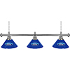 Ford 3 Shade Chrome Billiard Lamp - Ford Oval