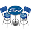Ford Genuine Parts Game Room Combo - 2 Stools w/Back & Table