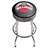 University of Georgia Chrome Ribbed Bar Stool - Honeycomb