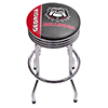 University of Georgia Chrome Ribbed Bar Stool - Text
