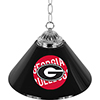 University of Georgia 14 Inch Single Shade Bar Lamp - Wordmark