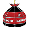 University of Georgia 16 Inch Handmade Stained Glass Lamp