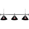 University of Georgia 3 Shade Chrome Billiard Lamp - Honeycomb