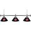 University of Georgia 3 Shade Chrome Billiard Lamp - Wordmark