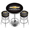 Chevrolet Game Room Combo - 2 Bar Stools and Table