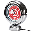 Atlanta Hawks NBA Chrome Retro Style Tabletop Neon Clock