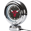 Chicago Bulls NBA Chrome Retro Style Tabletop Neon Clock