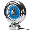 Dallas Mavericks NBA Chrome Retro Style Tabletop Neon Clock