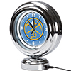 Denver Nuggets NBA Chrome Retro Style Tabletop Neon Clock