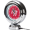 Houston Rockets NBA Chrome Retro Style Tabletop Neon Clock