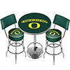 University of Oregon Game Room Combo - 2 Stools w/Back & Table