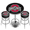 Ohio State University Black Game Room Combo - 2 Bar Stools and Table