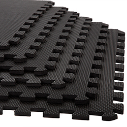 Foam Mat Floor Tiles, Interlocking EVA Foam Padding by Stalwart ? Soft Flooring for Exercising, Yoga, Camping, Playroom ? 6 Pack, .375 inches thick