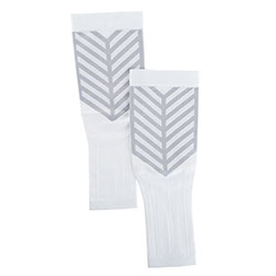 Arm Compression Sleeves One Pair Small White by Bluestone