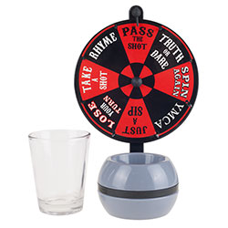 Spin the Wheel Shot Drinking Game- Fun Adult Party/College Shot Glass Spinner Game for Home Entertaining, Parties, Tailgating, More by Hey! Play!
