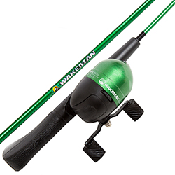 Fishing Rod and Reel Combo with Tackle Set, Spincast Fishing Pole, Gear for Small Fish/Pond Fishing, Great for Kids, Green - Spawn Series by Wakeman