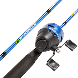 Fishing Rod and Reel Combo, Spincast Fishing Pole, Fishing Gear for Bass and Trout Fishing, Great for Kids, Blue - Swarm Series by Wakeman
