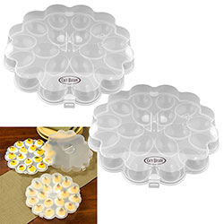 Deviled Egg Trays with Snap On Lids - Set of 2  Image