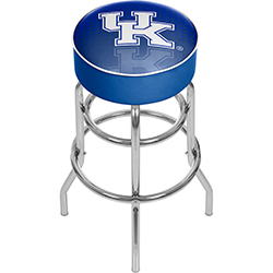 University of Kentucky Chrome Bar Stool with Swivel - Reflection
