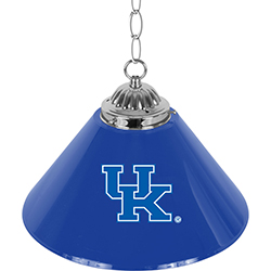 University of Kentucky Single Shade Chrome Bar Lamp - 14 inch