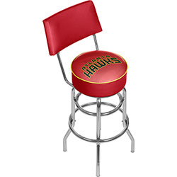 NBA Swivel Bar Stool with Back - Fade  - Atlanta Hawks
