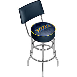 NBA Swivel Bar Stool with Back - Fade  - Denver Nuggets