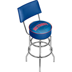 NBA Swivel Bar Stool with Back - Fade  - Detroit Pistons