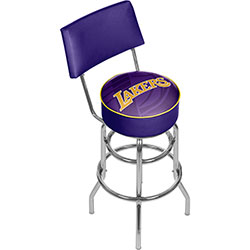 NBA Swivel Bar Stool with Back - Fade  - Los Angeles Lakers