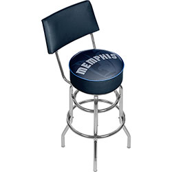 NBA Swivel Bar Stool with Back - Fade  - Memphis Grizzlies