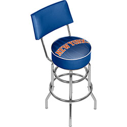 NBA Swivel Bar Stool with Back - Fade  - New York Knicks