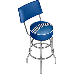 NBA Swivel Bar Stool with Back - Fade  - Orlando Magic