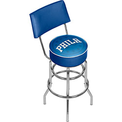 NBA Swivel Bar Stool with Back - Fade  - Philadelphia 76ers