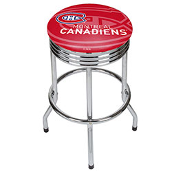 NHL Chrome Ribbed Bar Stool - Montreal Canadians