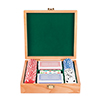 Trademark Poker Oak Poker Chip Case w/100 Chips