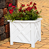 Plant Holder ? Planter Container Box for Garden, Patio, and Lawn ? Outdoor Decor by Pure Garden ? White