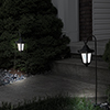 Pure Garden Solar LED Hanging Coach Lanterns ? Black - Set of 2