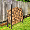 Pure Garden 4 Foot Firewood Log Rack