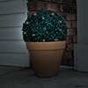 Solar Powered LED Artificial Topiary Ball-Decorative Pre-lit Faux Boxwood with Rechargeable Battery-Outdoor Lawn and Garden Decor by Pure Garden