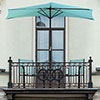 Pure Garden 9' Half Round Patio Umbrella - Blue