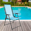 Pure Garden Suspension Folding Chair - Blue
