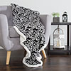 Lavish Home Fleece Sherpa Blanket Throw - Black/White